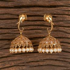 206190 Antique Temple Earring With Gold Plating