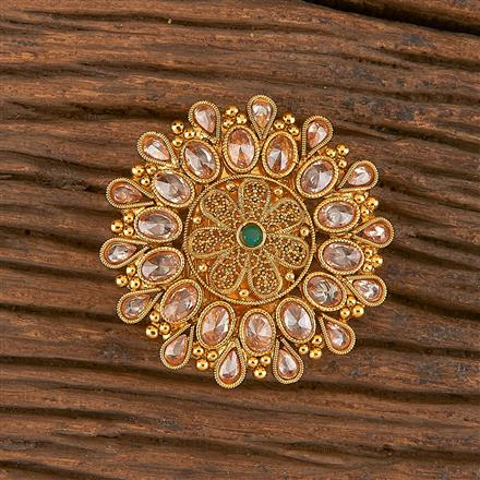 206197 Antique Classic Brooch With Gold Plating