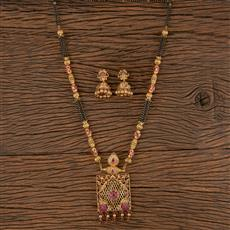 206214 Antique Classic Mangalsutra With Gold Plating