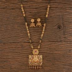 206215 Antique Classic Mangalsutra With Gold Plating