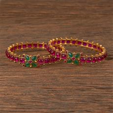 206217 Antique Classic Bangles With Gold Plating