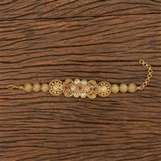 206248 Antique South Indian Bracelet With Matte Gold Plating