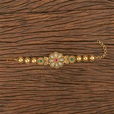 206249 Antique South Indian Bracelet With Matte Gold Plating