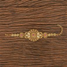 206250 Antique South Indian Bracelet With Matte Gold Plating