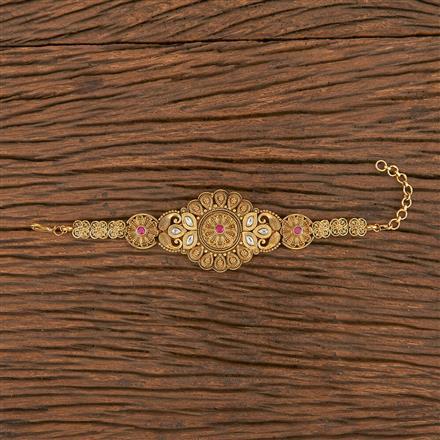 206250 Antique South Indian Bracelet With Matte Gold Plating