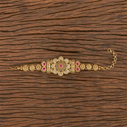 206252 Antique South Indian Bracelet With Matte Gold Plating