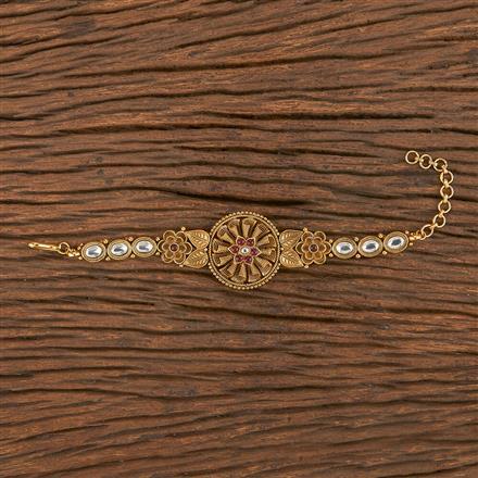 206254 Antique South Indian Bracelet With Matte Gold Plating