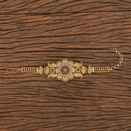206255 Antique South Indian Bracelet With Matte Gold Plating