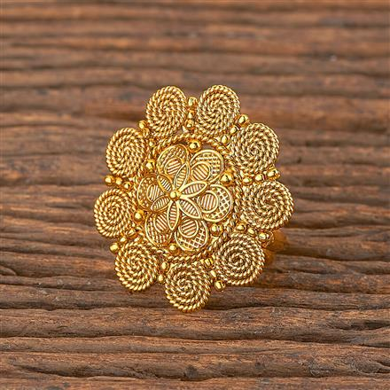 206261 Antique Plain Ring With Gold Plating