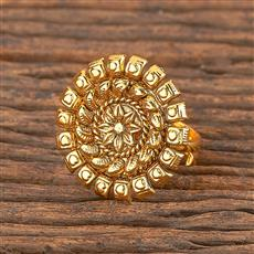 206262 Antique Delicate Ring With Gold Plating