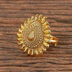 206263 Antique Plain Ring With Gold Plating