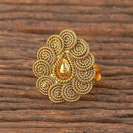 206264 Antique Delicate Ring With Gold Plating