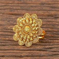 206265 Antique Plain Ring With Gold Plating