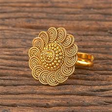 206266 Antique Delicate Ring With Gold Plating