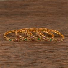 206268 Antique Delicate Bangles With Gold Plating