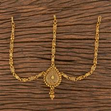 206272 Antique Plain Damini With Gold Plating