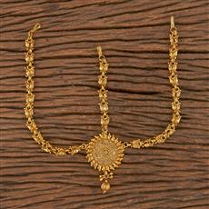 206273 Antique Plain Damini With Gold Plating