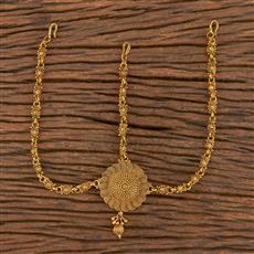 206274 Antique Plain Damini With Gold Plating