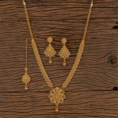 206281 Antique Long Necklace With Gold Plating