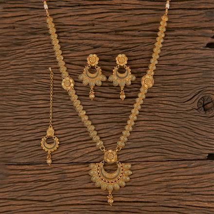 206282 Antique Long Necklace With Gold Plating