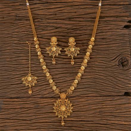 206283 Antique Long Necklace With Gold Plating