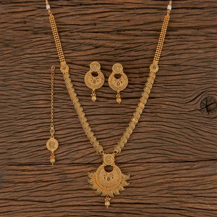 206284 Antique Long Necklace With Gold Plating