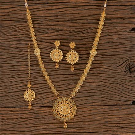 206285 Antique Long Necklace With Gold Plating