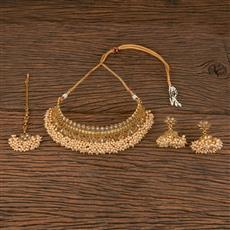 206289 Antique Mukut Necklace With Gold Plating