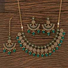 206297 Antique Classic Necklace With Mehndi Plating