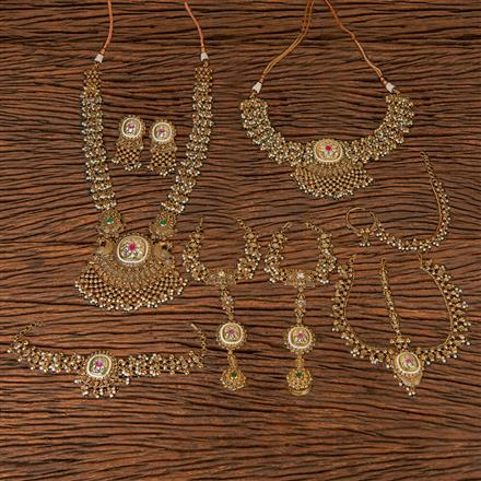 206321 Antique Bridal Sets With Gold Plating