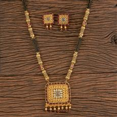 206322 Antique Classic Mangalsutra With Gold Plating
