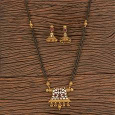 206323 Antique Classic Mangalsutra With Gold Plating