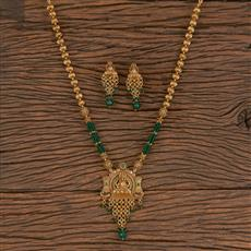 206334 Antique Temple Pendant Set With Gold Plating