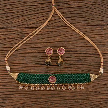 206338 Antique Choker Necklace With Gold Plating