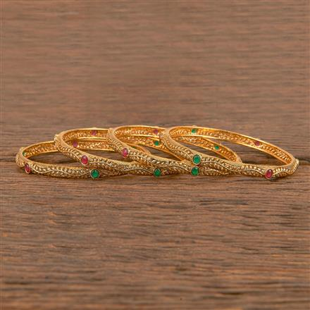 206373 Antique Classic Bangles With Gold Plating