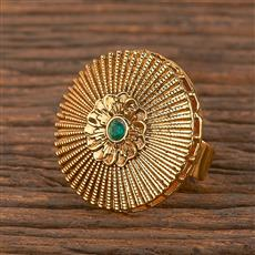 206379 Antique Classic Ring With Gold Plating