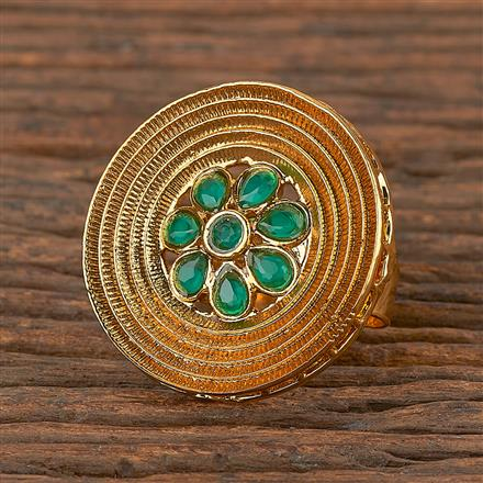 206380 Antique Classic Ring With Gold Plating