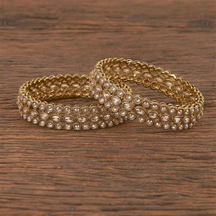 206392 Antique Classic Bangles With Mehndi Plating
