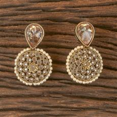 206415 Antique Delicate Earring With Mehndi Plating