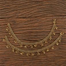 206422 Antique Ghungru Payal With Mehndi Plating