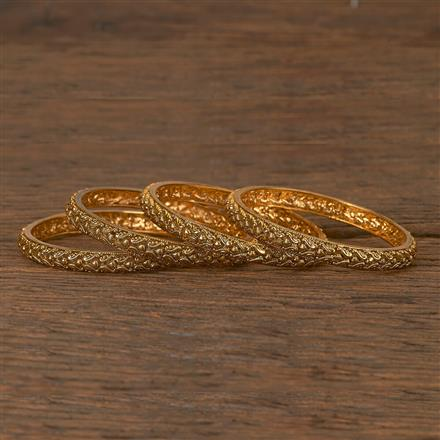 206433 Antique Plain Bangles With Gold Plating