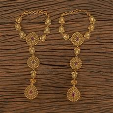 206434 Antique South Indian Hath Pan With Matte Gold Plating