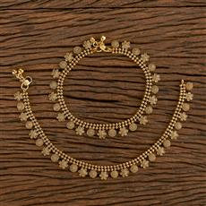 206464 Antique Plain Payal With Gold Plating