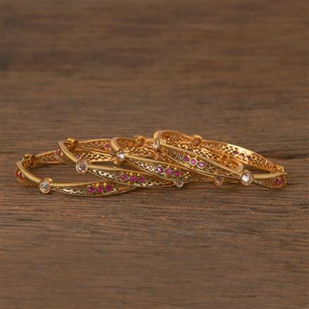 206491 Antique Delicate Bangles With Gold Plating