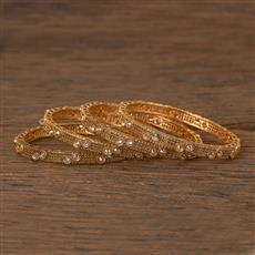 206492 Antique Delicate Bangles With Gold Plating