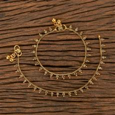 206494 Antique Baby Payal With Gold Plating