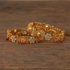 206504 Antique Classic Bangles With Gold Plating