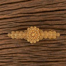 206514 Antique Plain Gold Hair Clips With Gold Plating