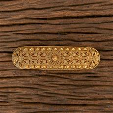 206515 Antique Plain Gold Hair Clips With Gold Plating