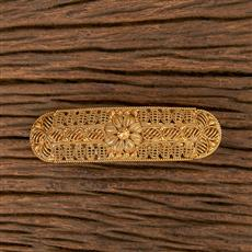 206522 Antique Plain Gold Hair Clips With Gold Plating